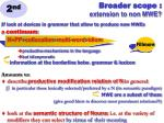 broader scope extension to non mwe