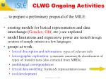 clwg ongoing activities
