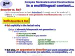 complex nominals lexical constructions in a multilingual context