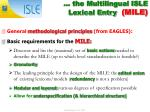 the multilingual isle lexical entry mile