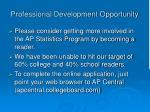 professional development opportunity