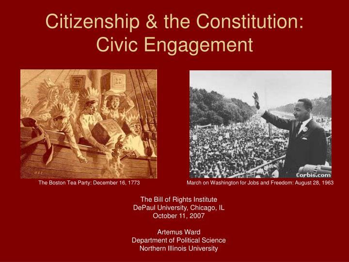 citizenship the constitution civic engagement n.