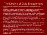 the decline of civic engagement