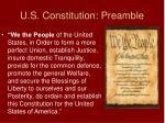u s constitution preamble