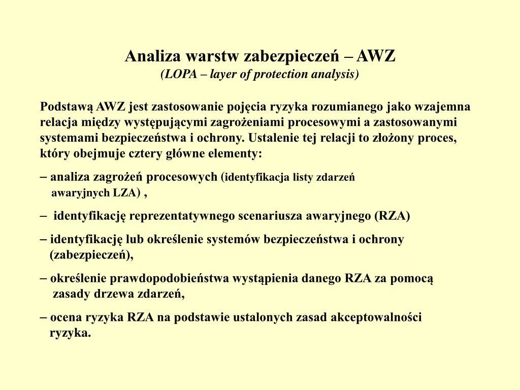 Analiza warstw zabezpieczeń – AWZ