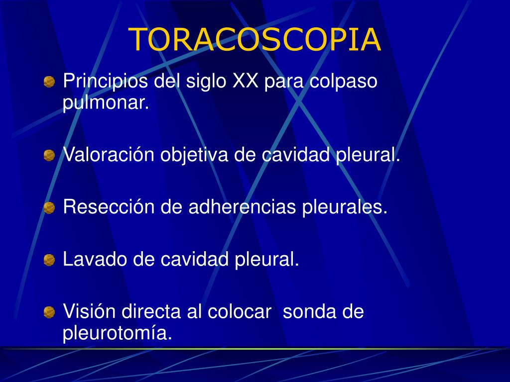 TORACOSCOPIA