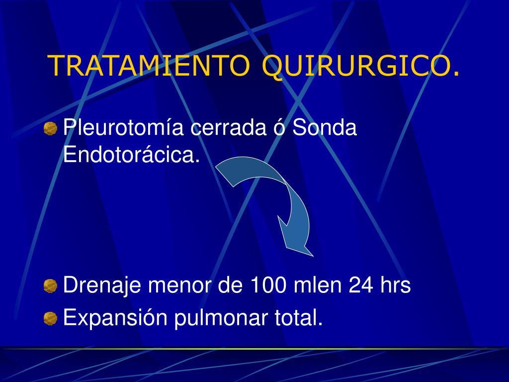 TRATAMIENTO QUIRURGICO.
