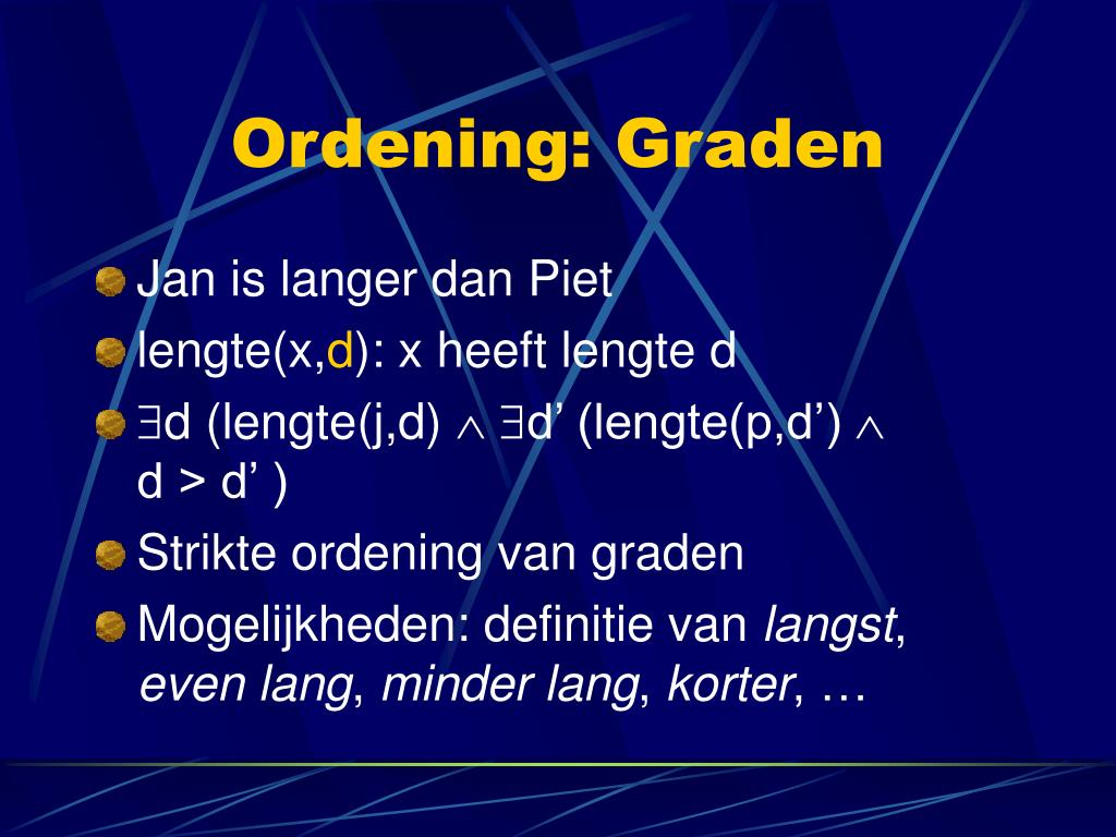 Ordening: Graden