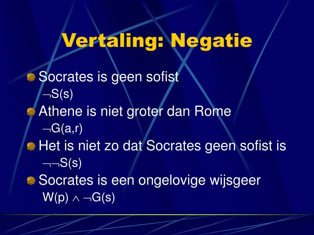 Vertaling: Negatie