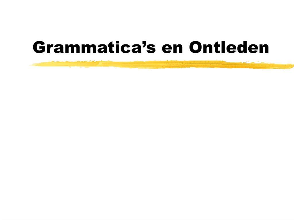 Grammatica's en Ontleden
