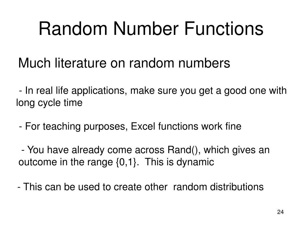 Random Number Functions