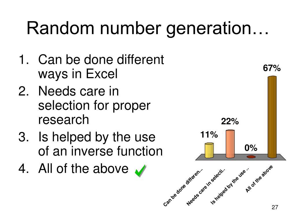 Random number generation…