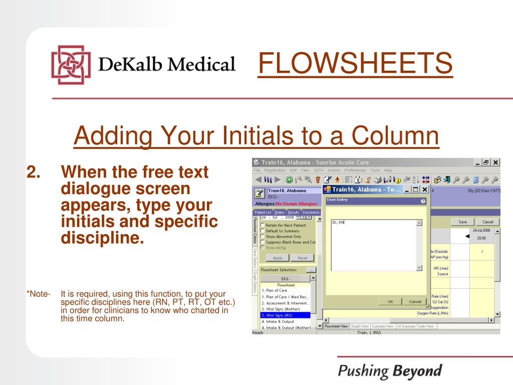 FLOWSHEETS