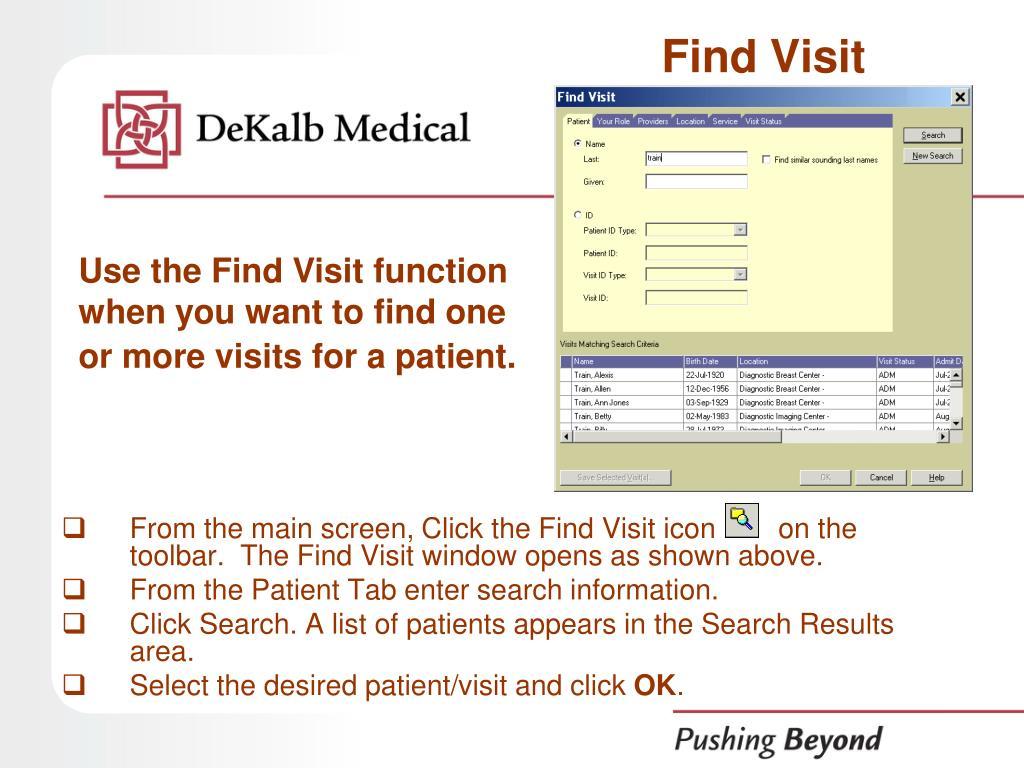 Find Visit