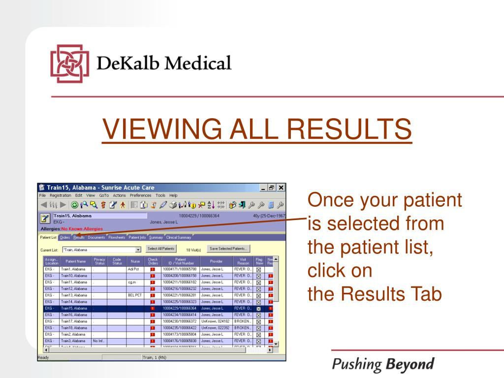 VIEWING ALL RESULTS