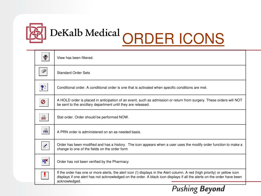 ORDER ICONS