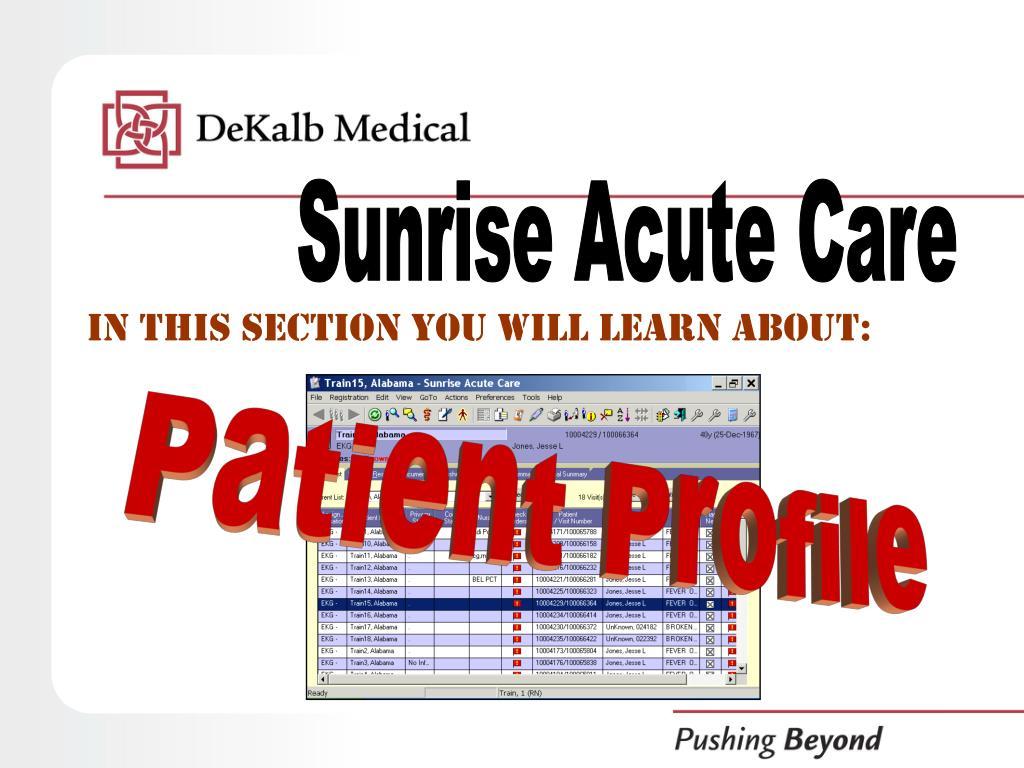 Sunrise Acute Care