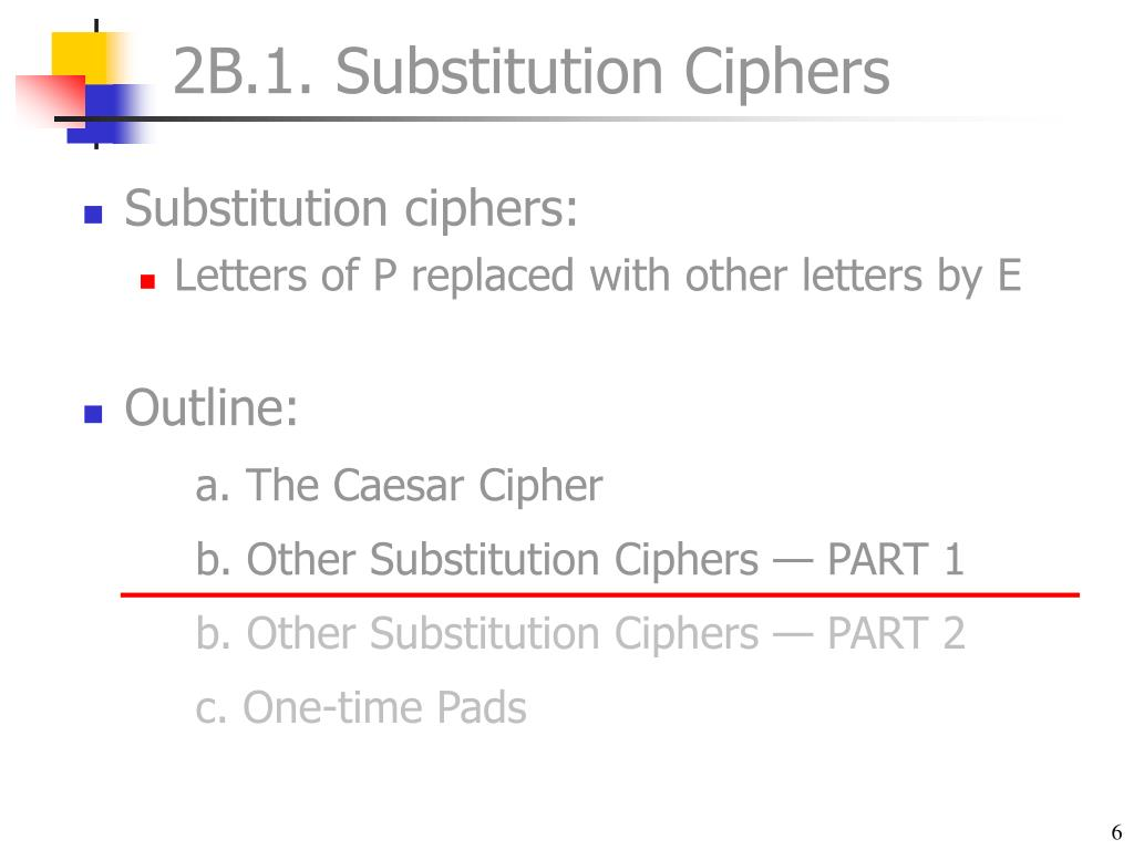 2B.1. Substitution Ciphers