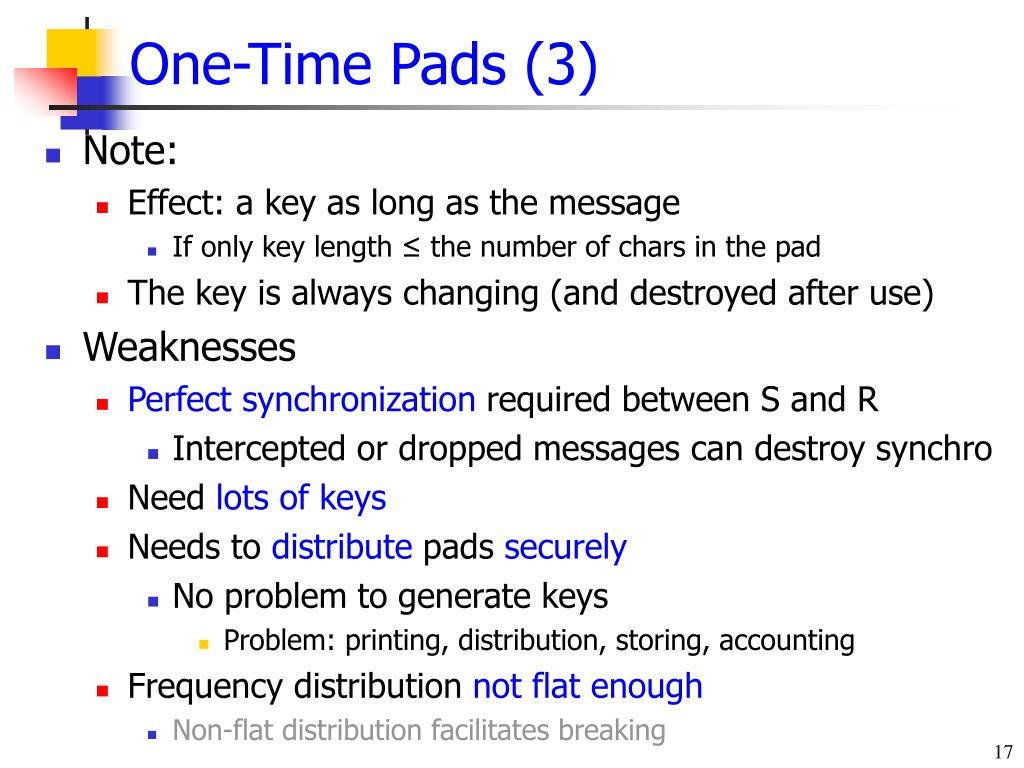 One-Time Pads (3)