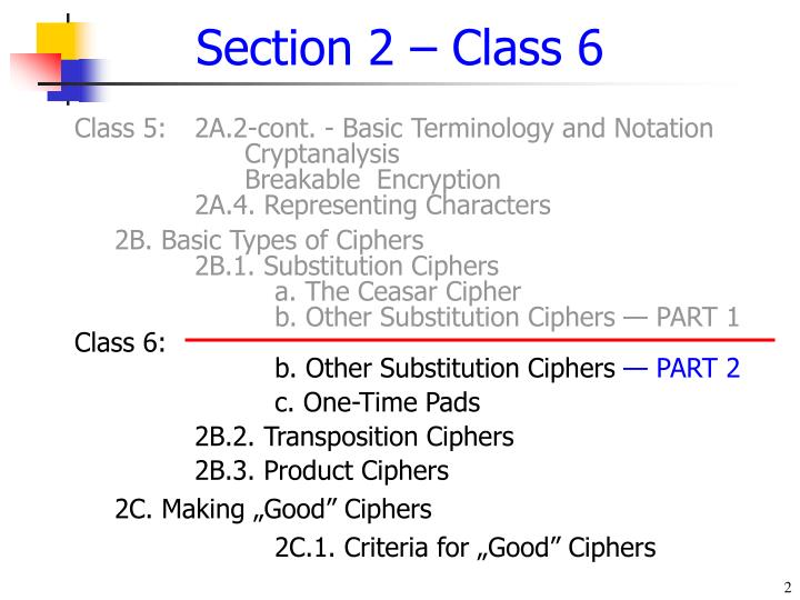 Section 2 class 6