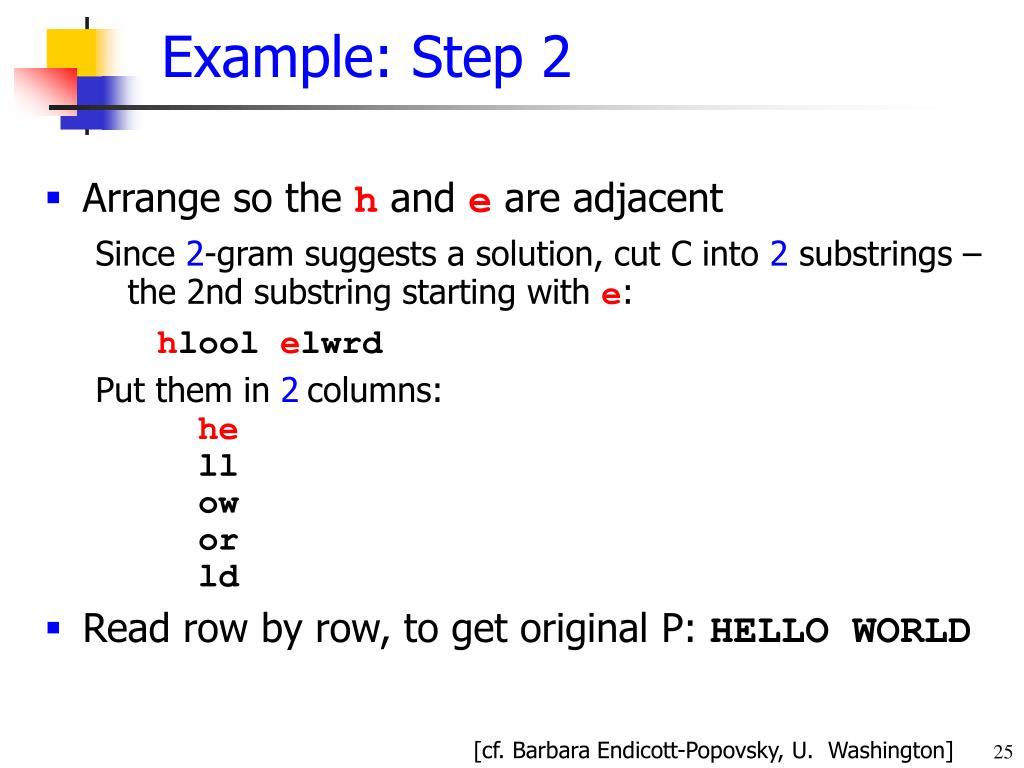 Example: Step 2