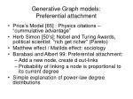 generative graph models preferential attachment