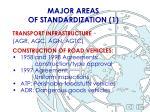 major areas of standardization 1