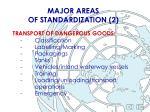 major areas of standardization 2