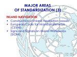 major areas of standardization 3