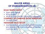 major areas of standardization 4