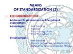 means of standardization 2