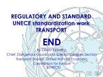 regulatory and standard unece standardization work transport