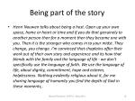 being part of the story