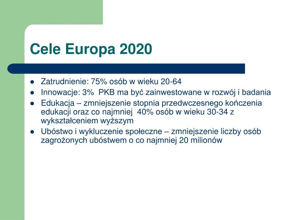 Cele Europa 2020