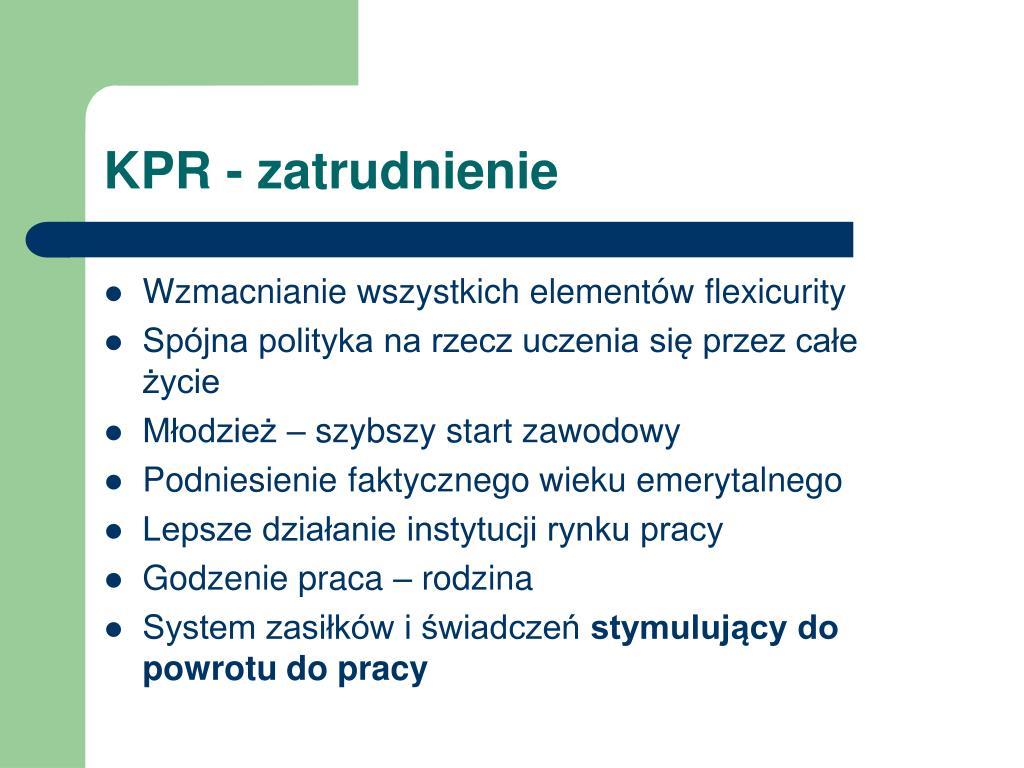 KPR - zatrudnienie
