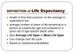 definition of life expectancy