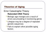 theories of aging16