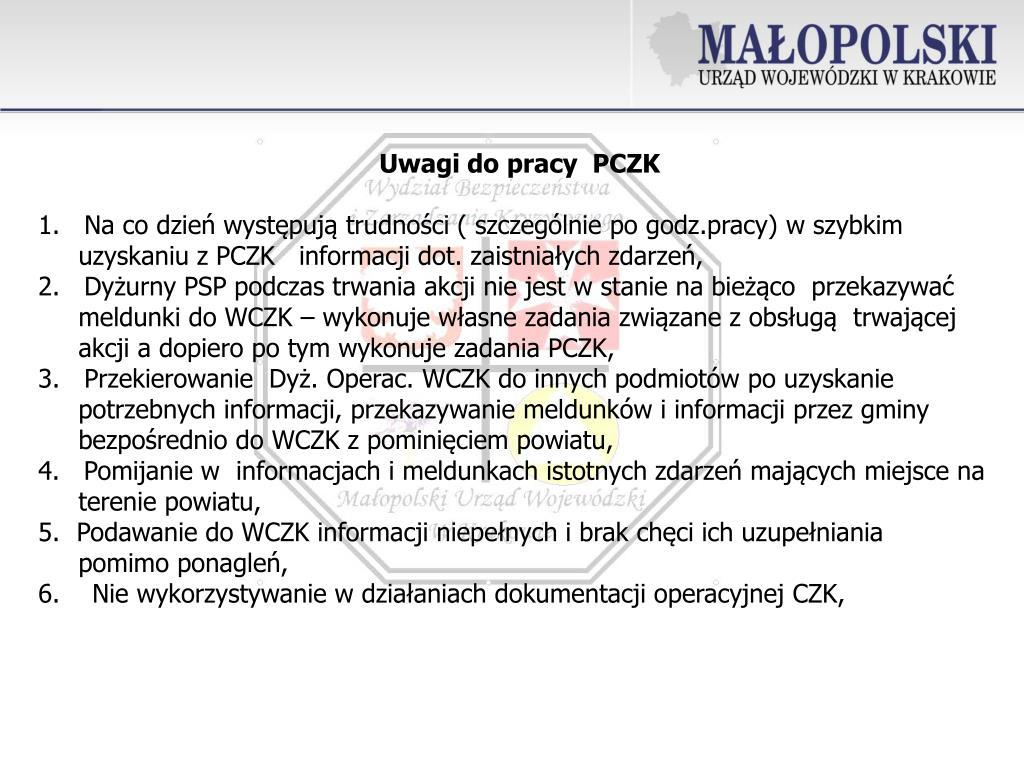 Uwagi do pracy  PCZK