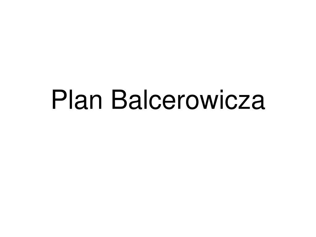 plan balcerowicza l.