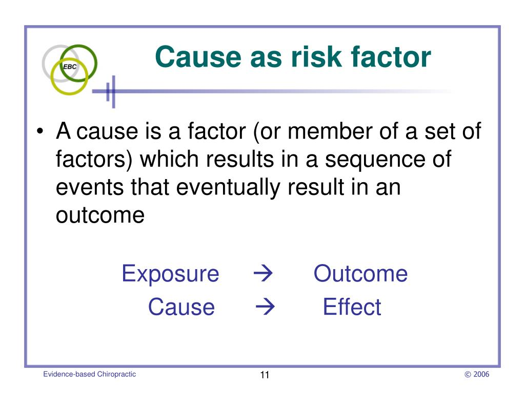 Cause as risk factor