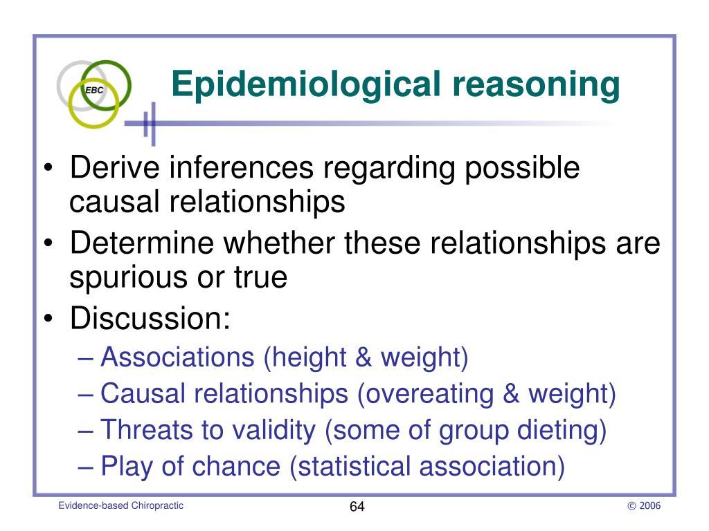 Epidemiological reasoning