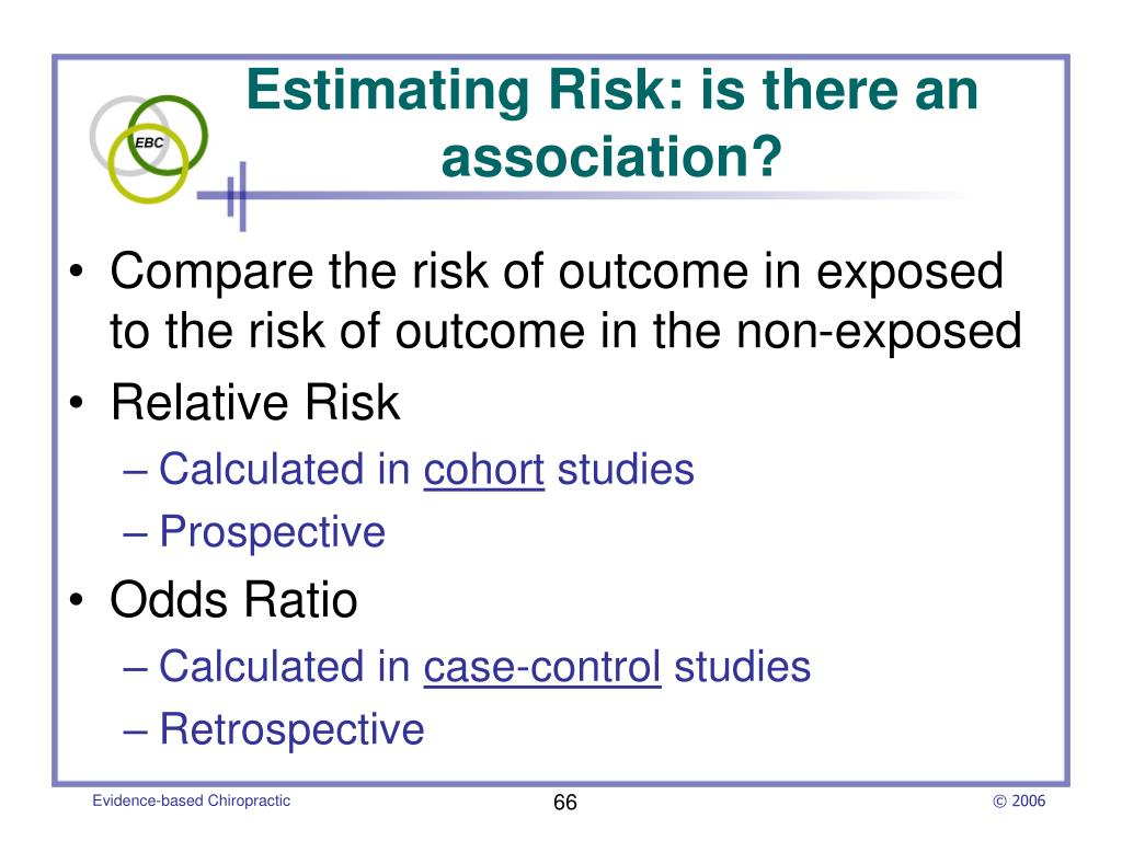 Estimating Risk: is there an association?
