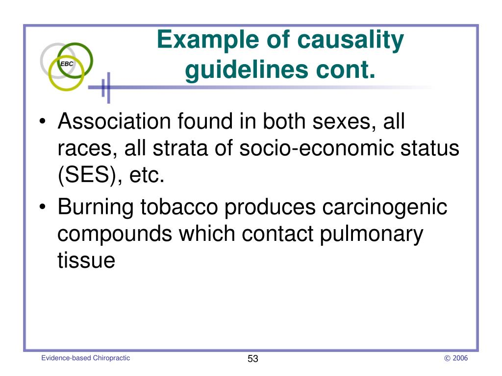 Example of causality