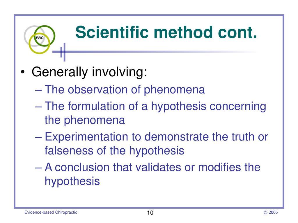 Scientific method cont.
