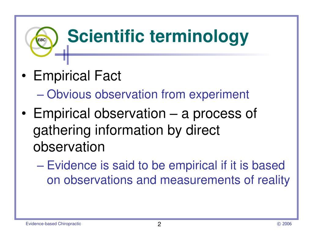 Scientific terminology