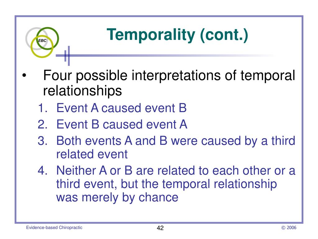 Temporality (cont.)