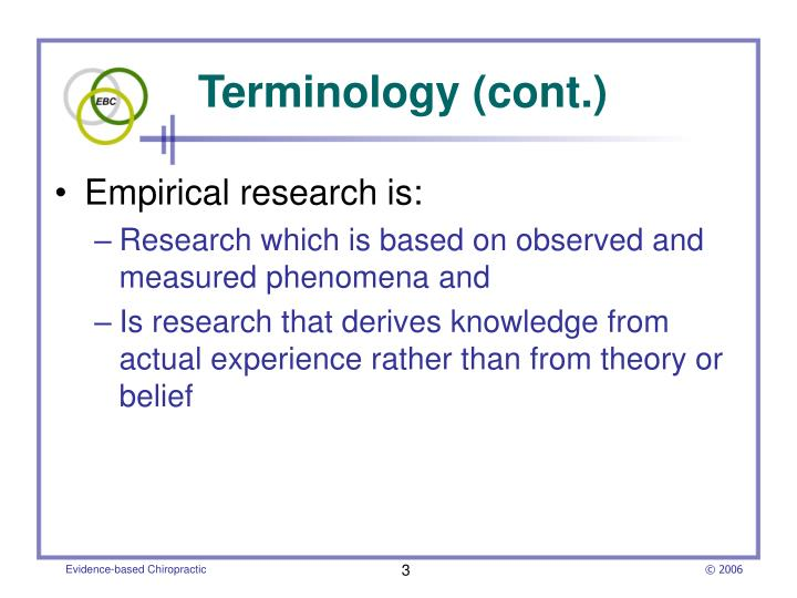Terminology cont