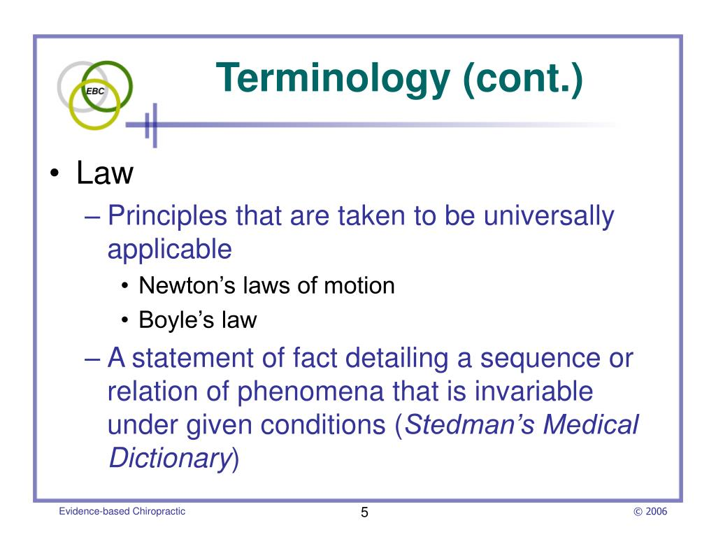 Terminology (cont.)