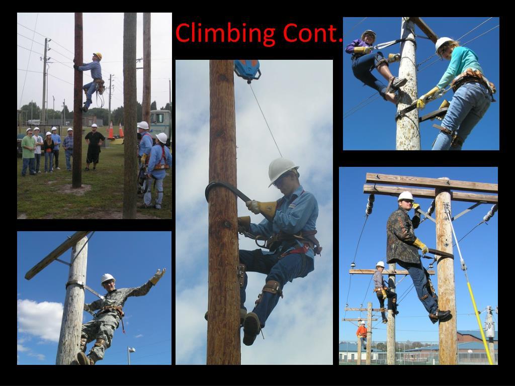 Climbing Cont.