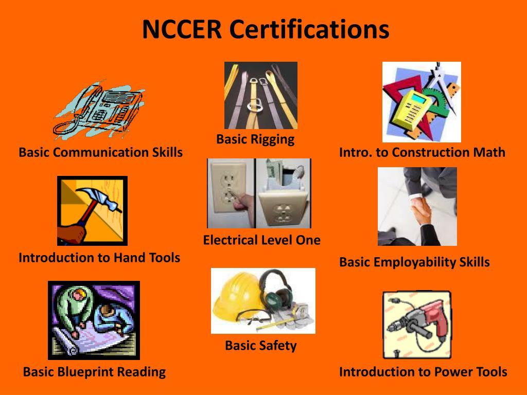 NCCER Certifications